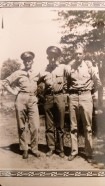 Home Visit - Left to right, Art, brother Norman and Arnie Rettammel, 1941