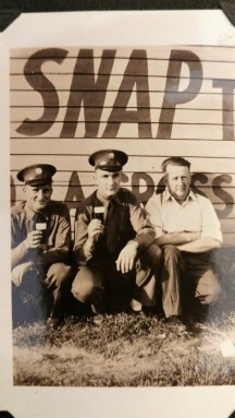 Home Visit - Art and Arnie with friend, Lyndon Station, WI. 1941